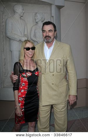 NORTH HOLLYWOOD - JUN 5: Tom Selleck, wife Jillie Mack at a screening and panel discussion of CBS's 'Blue Bloods' at Leonard H. Goldenson Theater on June 5, 2012 in North Hollywood, California