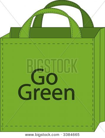 Shopping Bag Go Green.