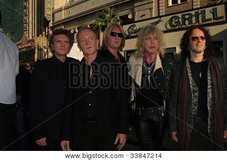 LOS ANGELES - JUN 8: Def Leppard at the 'Rock of Ages' Los Angeles premiere held at Grauman's Chinese Theater on June 8, 2012 in Los Angeles, California