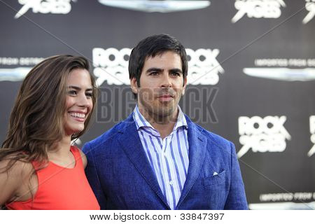 LOS ANGELES - JUN 8: Lorenza Izzo, Eli Roth. at the 'Rock of Ages' Los Angeles premiere held at Grauman's Chinese Theater on June 8, 2012 in Los Angeles, California