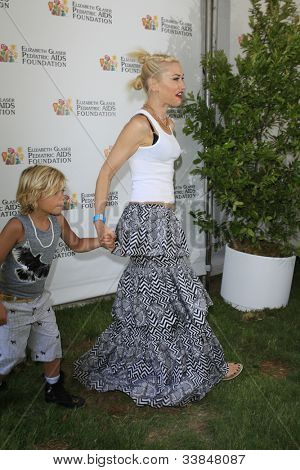 LOS ANGELES, CA - JUN 3: Gwen Stefani, sons Kingston, Zuma at the 'A Time for Heroes' Celebrity Picnic for the Elizabeth Glaser Pediatric AIDS Foundation on June 3, 2012 in Los Angeles, California