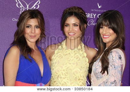 LOS ANGELES - JUNE 9: Jamie Lynn Sigler, Jenna Dewan, Lea Michele at the 11th Annual Chrysalis Butterfly Ball held at a private residence on June 9, 2012 in Los Angeles, California