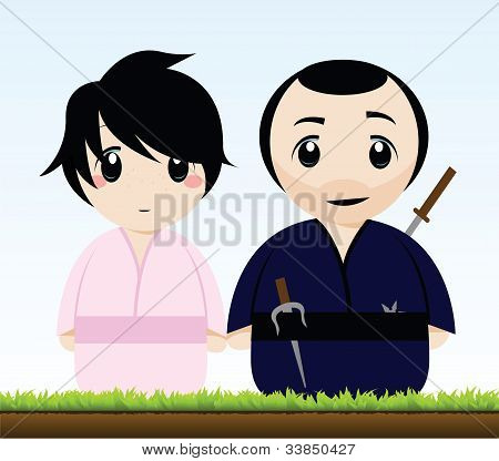 a japanese couple