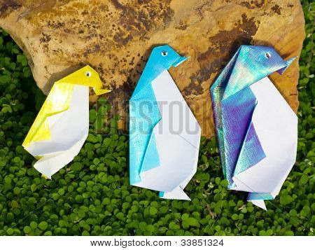 Penguin Origami Family