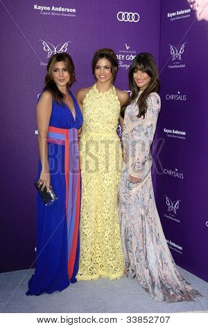LOS ANGELES - JUN 9:  Jamie Lynn Sigler, Jenna Dewan, Lea Michele arriving at 11th Annual Chrysalis Butterfly Ball at Private Residence on June 9, 2012 in Los Angeles, CA