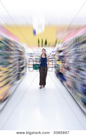 Getting Groceries At The Supermarket