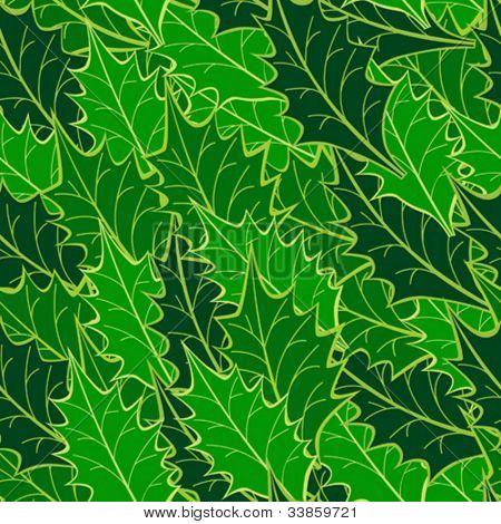 seamless holly leaf pattern