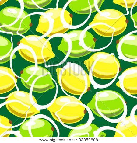 Patrones sin fisuras de limón