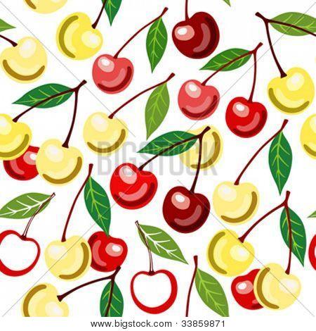 Sweet cherry seamless pattern