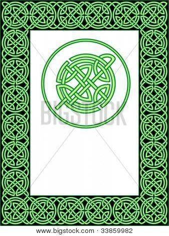 Patrón de marco celta