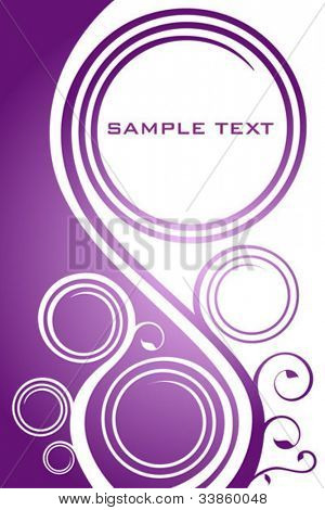 Abstract lilac floral background with copy space