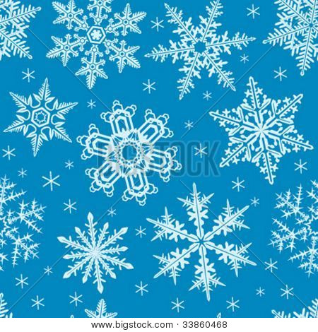 seamless ornament with snowflakes
