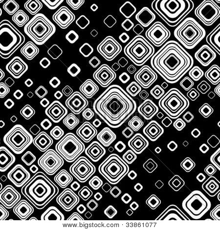 Stylish retro black-and-white seamless pattern