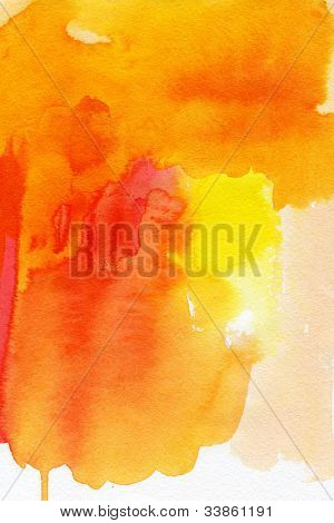 Abstract watercolor hand painted background