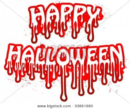 Halloween vector bloody text.