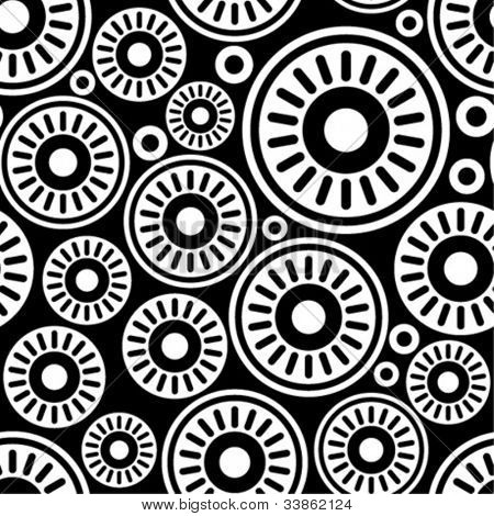 Stylish black-and-white seamless pattern