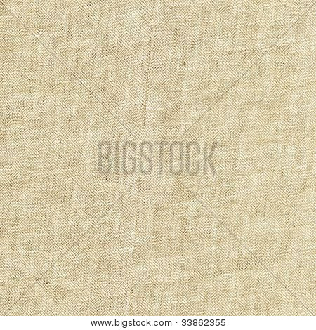 beige linen fabric texture in close-up