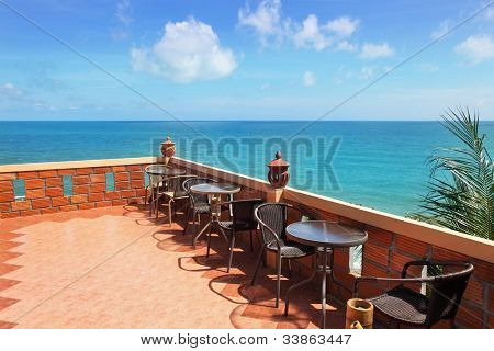 Terrace with beautiful sea view