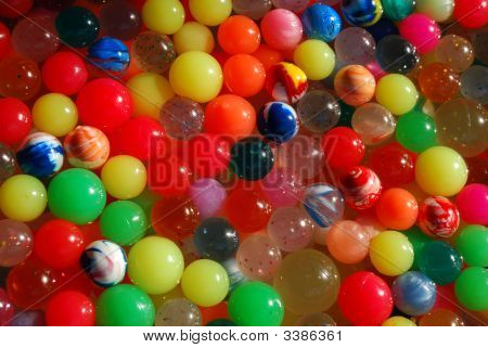 Rainbow Rubber Balls