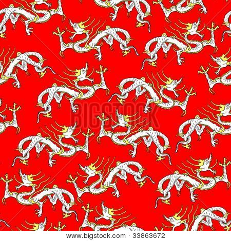 Asian dragon seamless background