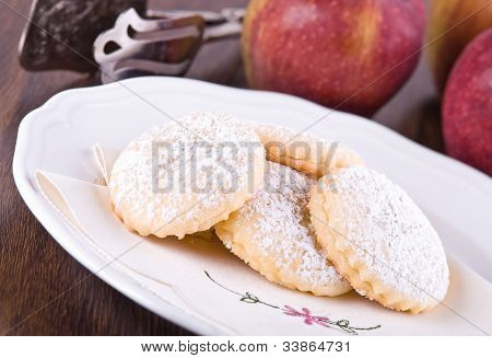Apple filled cookies.