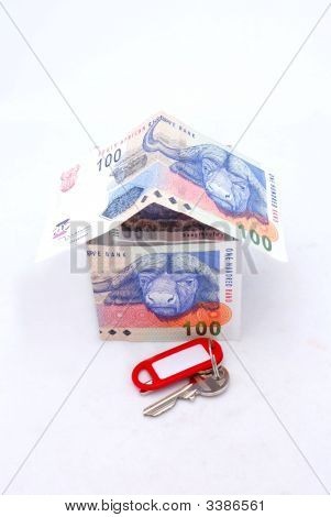 Money House With Key