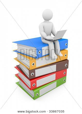 People at work. Image contain clipping path