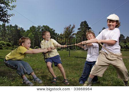 child tug of war