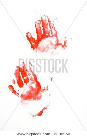 Red Hand Prints