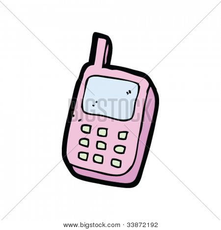 cartoon pink mobile phone