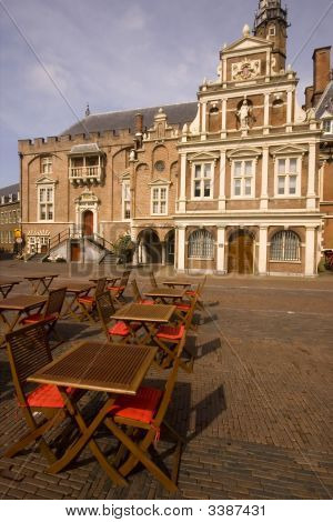 Main Square In Haarlem