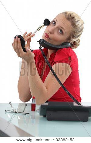 Stereotyp blond Sekretär