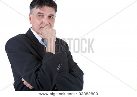 Portrait of a senior business man isolated on white
