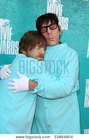 LOS ANGELES - JUN 3:  Dan Auerbach; Patrick Carney arriving at the 2012 MTV Movie Awards at Gibson Ampitheater on June 3, 2012 in Los Angeles, CA