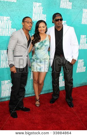 LOS ANGELES - JUN 3:  Lil Romeo, Cymphonique Miller, Master P arriving at the 2012 MTV Movie Awards at Gibson Ampitheater on June 3, 2012 in Los Angeles, CA
