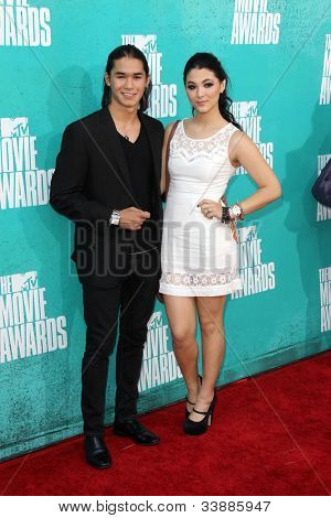 LOS ANGELES - JUN 3:  Booboo Stewart and Fivel Stewart arriving at the 2012 MTV Movie Awards at Gibson Ampitheater on June 3, 2012 in Los Angeles, CA