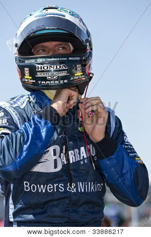 Ft WORTH, TX - JUN 08:  Alex Tagliani (98) prepares to qualify for the Firestone 550 race at the Texas Motor Speedway in Fort Worth, TX on June 08, 2012.