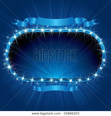 Retro Neon Sign. Vector Image Ready for your Text or Design