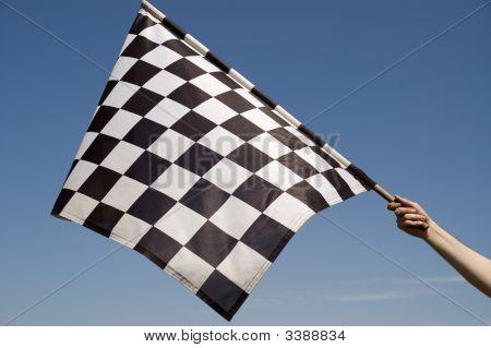 Karierte Flagge.