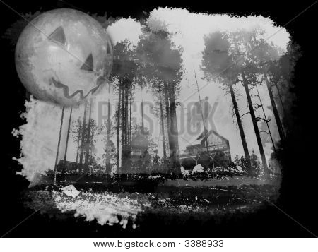 Haunted Halloween Home In Forest