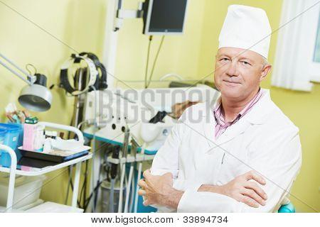 Medical otolaryngologist ear nose throat doctor