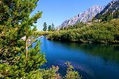 Alpine Meadow Besides An Alpine Lake Where People Can Take A Swim Or Fish For Trout Taken In The Rur poster