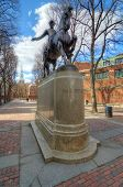 stock photo of paul revere  - Paul Revere Mall in Boston - JPG
