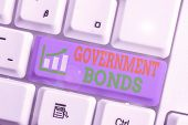 Word Writing Text Government Bonds. Business Concept For Debt Security Issued By A Government To Sup poster