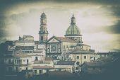 Vietri Sul Mare Church Of San Giovanni Battista In Vintage Style To Mean A Concept poster
