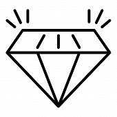 Expensive Diamond Icon. Outline Expensive Diamond Vector Icon For Web Design Isolated On White Backg poster