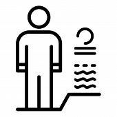 Body Man Authentication Icon. Outline Body Man Authentication Vector Icon For Web Design Isolated On poster