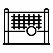 Volleyball Net Icon. Outline Volleyball Net Vector Icon For Web Design Isolated On White Background poster
