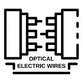 Optical Electric Wires Icon. Outline Optical Electric Wires Vector Icon For Web Design Isolated On W poster