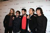 LOS ANGELES - NOV 16:  Maroon 5 arrives at the Google Music Launch at Mr. Brainwash Studio on Novemb